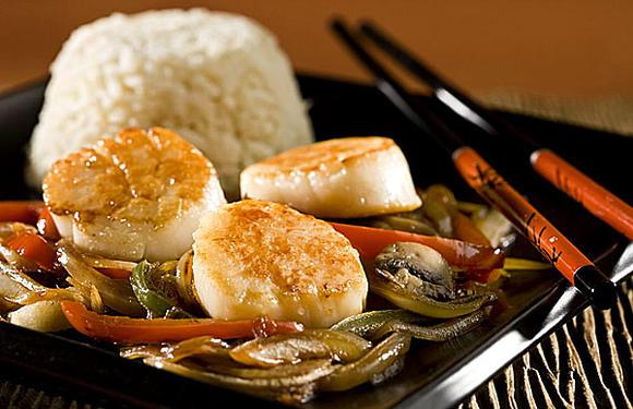 Scallop stir-fry