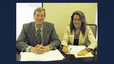 The Somerset County Builders Association Scholarship Trustees recently met to make arrangements for the 2012 Scholarship Award. On left is Gary Bentz of 1st Summit Bank and on the right is Kathy Lloyd of First National Bank of PA. Absent from photo were Michelle Moon, Paul Laskey and Carlene Mitchell.