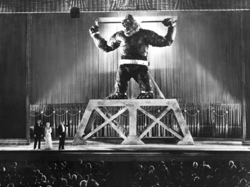 "Stop-motion was one of the first special effects used in live-action movies. Effects pioneer Willis O'Brien relied on the technique to create the scenery-stomping gorilla in 1933's ""King Kong."""