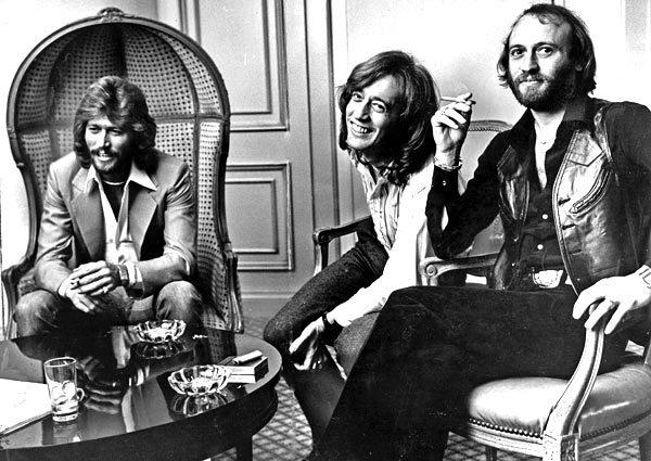 Barry, Robin and Maurice Gibb of the Bee Gees in June 1979. The Bee Gees had nine No. 1 U.S. singles in the 1970s, won six Grammy Awards and were inducted into the Rock and Roll Hall of Fame in 1997.