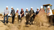 CALEXICO – Dirt began flying for the much-anticipated Gran Plaza outlet center Monday as the $94 million project five years in the making held its ceremonial groundbreaking.