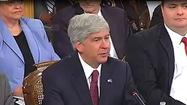 Governor Rick Snyder will attend the National Governors Association regional conference in Omaha, Nebraska, Tuesday, before hosting an online town hall meeting.