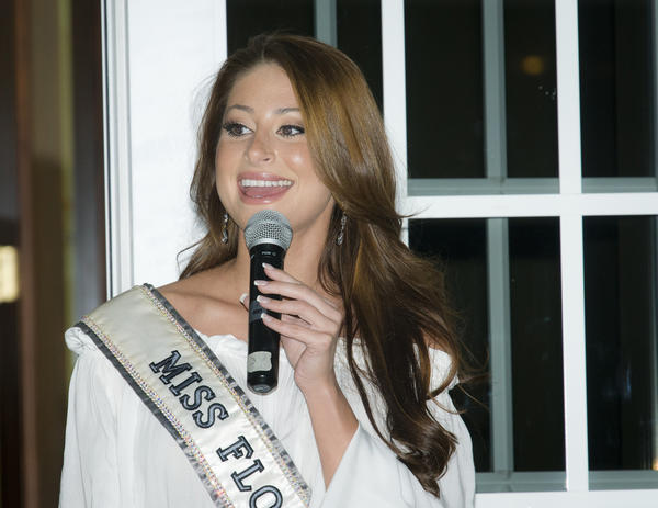 "Miss Florida USA 2012 Karina Brez at 211 Palm Beach/Treasure Coast's ""Blame it on Rio Spring Event,"" which took place at the National Croquet Center located in West Palm Beach. To see more photos from Society Scene's Palm edition, visit www.Facebook.com/SocietyScene."