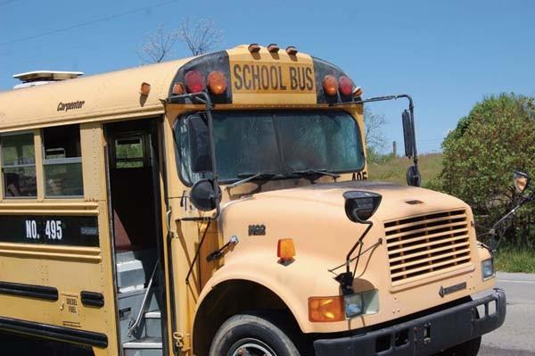 A fire aboard a Boyle County school bus Monday blackened the hood and front interior. No one was injured.