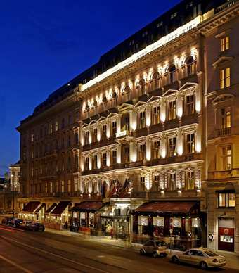The classic old world Hotel Sacher in Vienna has undeniable char