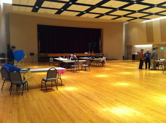 Polling place in Allentown