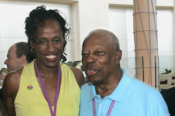 Olympic legend Jackie Joyner-Kersee with Dr. LeRoy Walker in 2005.