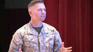 SAN DIEGO -- Speaking before a crowd of 500 Marines at Marine Corps Recruit Depot Monday, Colonel Bill Tosick explained how the military plans to reduce its ranks.