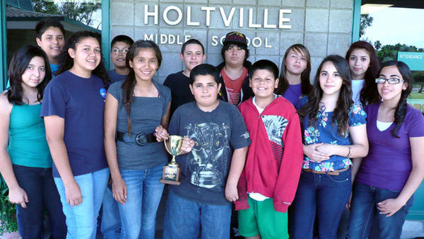 The Holtville MESA team brought home medals, ribbons and a trophy for placing first in the math team category at the University of California, Riverside, MESA Day Regionals competition last weekend.