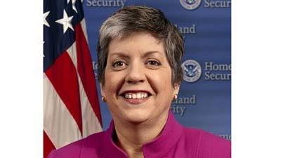 Homeland Security director Janet Napolitano