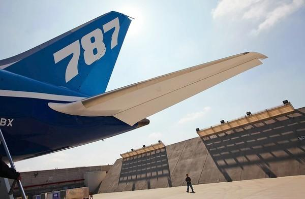 Boeing's 787 Dreamliner. The aircraft maker said income in the first quarter boomed as it builds more efficient planes for airlines struggling with high fuel costs.