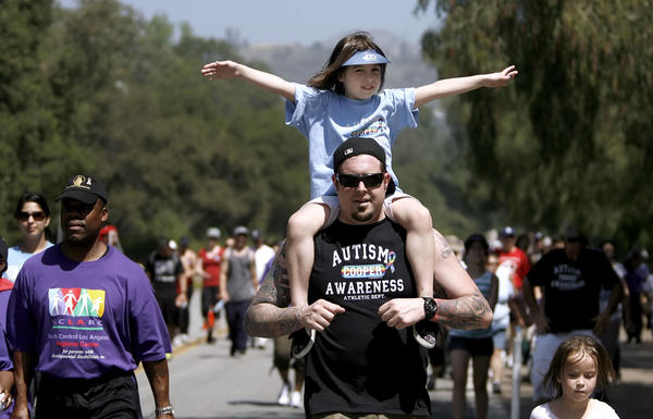 The L.A. Autism Walk was held around the Rose Bowl in Pasadena on Saturday, April 21, 2012.