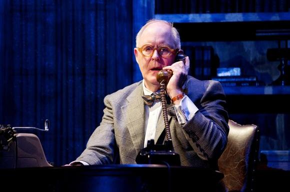 "John Lithgow stars as newspaper columnist Joseph Alsop in David Auburn's new Broadway play ""The Columnist."""