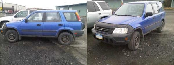 The FBI is seeking more information on a blue 2001 Honda CRV that may have been involved in the April 12 fatal shootings of Coast Guard Petty Officer 1st Class James Hopkins and retired Chief Petty Officer Richard Belisle. Anyone with information on the CRV or the case should call the FBI in Anchorage at 907-276-4441.
