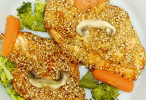 One version of sesame chicken