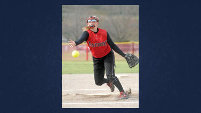 Meyersdale starting pitcher Savannah Leonard throws early against Ferndale on Wednesday.
