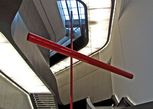 An interior view of the Maxxi museum in Rome.
