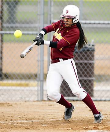 Northern State junior softball standout Caitlin Moran earned three honors from the Northern Sun Intercollegiate Conference on Wednesday. American News File Photo by John Davis