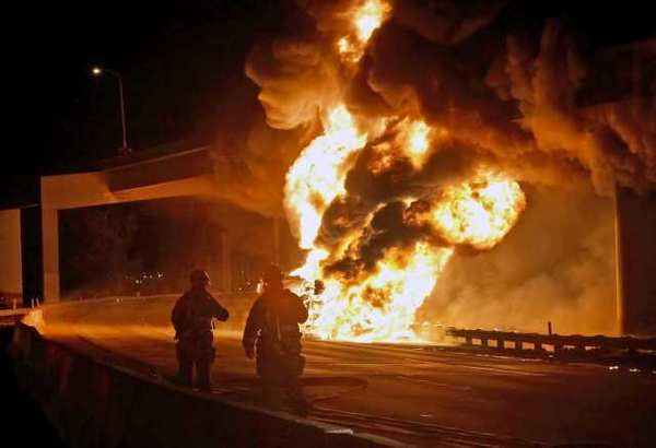 A tanker fire on April 7 caused damage on the Ventura (134) Freeway in Glendale.