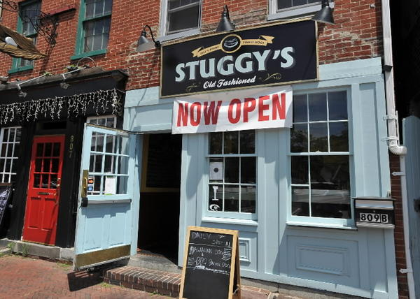 Hot dog shop Stuggy's in Fells Point