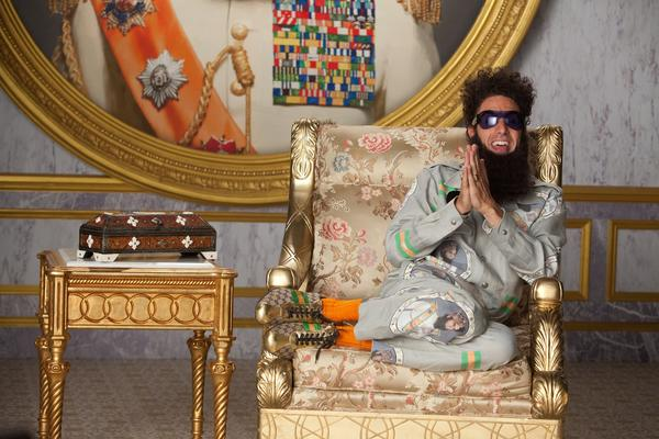 "The trailer for ""The Dictator"" suggests the latest from Sacha Baron Cohen (""Borat,"" ""Bruno"") could be hysterical or somewhat funny with a side of uncomfortable. Still, as an oppressive leader working to ensure his country never turns democratic, the comedian gets a good laugh when coming to the U.S. and marveling, ""Ahh, America; the birthplace of AIDS."" How many people could pull that off?"