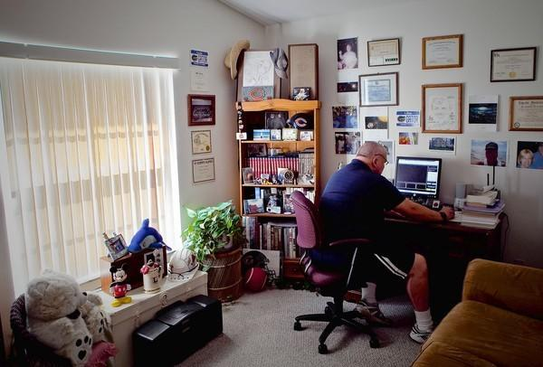 Larry Roark, 61, of Tampa, Fla., uses an old PC and a little of his spare time to volunteer for the SETI project.