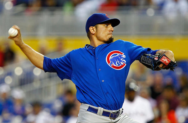 Cubs starting pitcher Matt Garza.