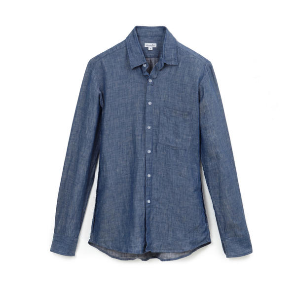 "Boyfriend shirt by Steven Alan at <a href=""http://www.Stevenalan.com"">www.Stevenalan.com</a>, $168."