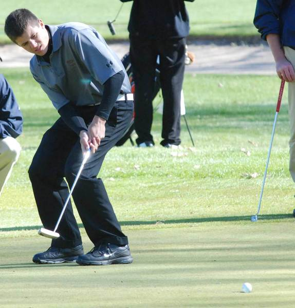 Tanner Catt was one of two Charlevoix players to shoot 42 Wednesday during a nine-hole Lake Michigan Conference match at Grandview Golf Club in Kalkaska.