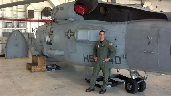 Ensign Chris Gokey earned his wings as a Navy pilot in February 2012.