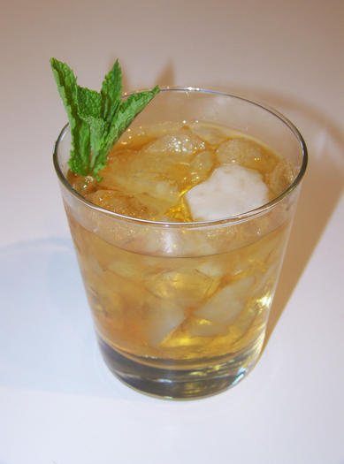 The official drink of the Kentucky Derby, the mint julep is a simple mixture of whisky, mint and sugar.