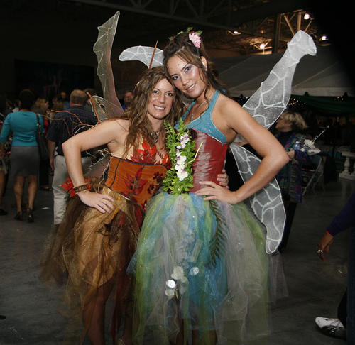 Fairies and Gnomes graced the enchanted garden theme at the food and wine tasting event.