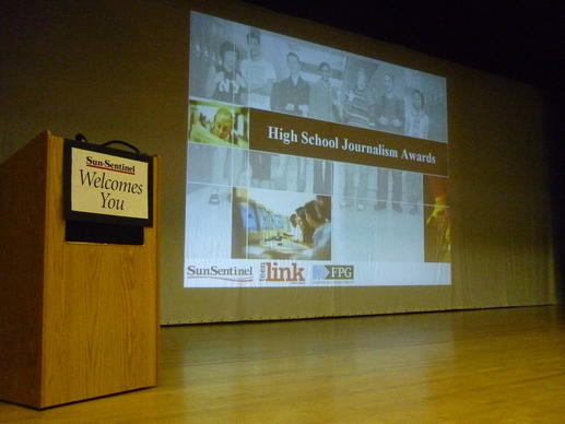 2012 High School Journalism Awards at Hollywood Hills High School on April 26, 2012.