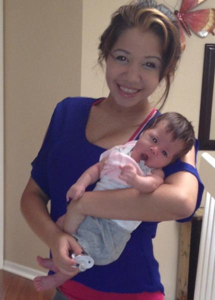 Gina Robledo, 16, and her one-month-old baby, August, left Sunrise in a borrowed vehicle and have disappeared.