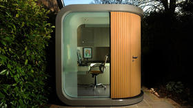 Small prefabs as backyard offices