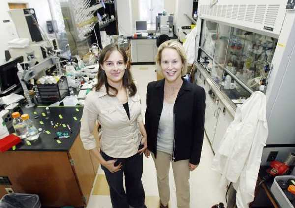 Frances Arnold, a researcher and professor of chemical engineering and biochemistry at the California Institute of Technology, in Pasadena, with lab manager Sabine Bastian. Arnold is the winner of the 2011 Draper Prize for her pioneering work on directed evolution.
