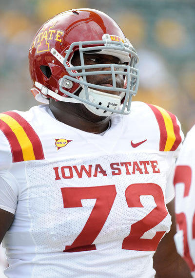 The Ravens took Kelechi Osemele, an offensive lineman out of Iowa State, with the No. 60 overall pick (second round) in the 2012 NFL draft.