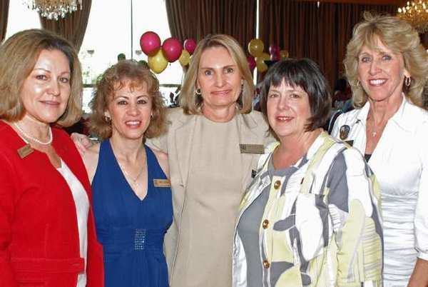 Margarita Campos, far left, with Nancy Guillen, Nickie Bonner, Jennifer Wyatt and Donna Anderson. Campos and Anderson, who each have held their elected positions for more than a decade, will be retiring on June 1 and July 7, respectively.