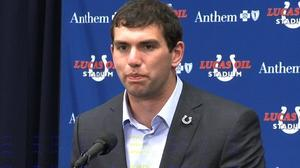 Andrew Luck's first news conference as a member of the Indianapolis Colts