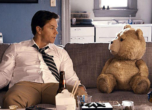 2012 Summer Movie Guide: Ted sounds simultaneously sad -- a grown mans (Mark Wahlberg) only friend is his childhood teddy bear -- and hilarious: Said teddy bear is voiced by Seth MacFarlane (who also co-wrote and directed the movie) and has a serious potty mouth. Mila Kunis co-stars as Wahlbergs girlfriend, whos understandably taken aback by the toy coming to life.  Release date: June 29  Rick Porter, Zap2it