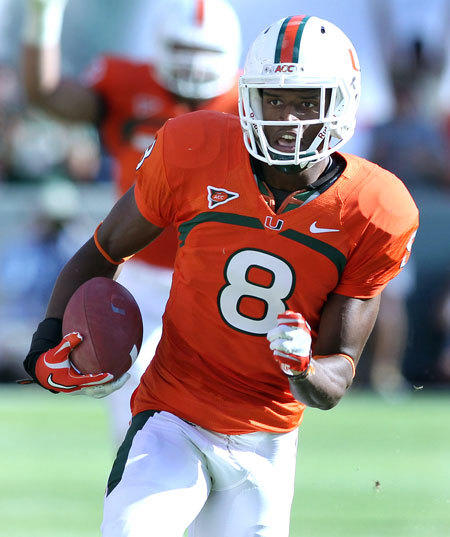 The Ravens took Miami wide receiver Tommy Streeter with the 198th overall pick in the sixth round of the 2012 NFL draft.
