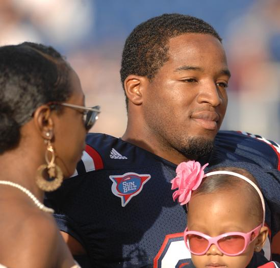 Alfred Morris during Senior Day in 2011. Morris was drafted by the Washington Redskins Saturday.