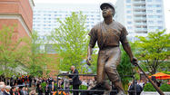 Through the raindrops, the Orioles honored Hall of Famer Frank Robinson, unveiling a statue of the Orioles great beyond the left-center-field fence at Camden Yards, kicking off a season-long celebration honoring the club's six Hall of Famers.