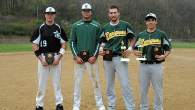 Award winners from Saturday¿s 18th annual Boswell Area Jaycees High School Baseball Classic were Players of the Game for game 4 and 1 Shane Supanick and Tony Strasiser of North Star, Most Valuable Player Justin Gdula of Forest Hills and Most Outstanding Pitcher Brady Wright of Forest Hills.