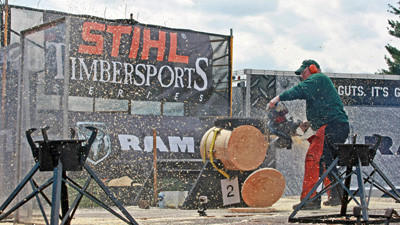 Harry Burnsworth, 54, has been living in that world of competitive lumberjacking for 32 years now. The Mill Run native has been competing on a national and international level of the demanding sport all while holding down a full-time job and raising a family.