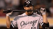 Paul Konerko was a late scratch from Sunday's White Sox lineup, the victim of a stiff neck.