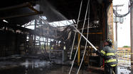 A multi-alarm fire destroyed a steel galvanizing plant near Joliet this morning.