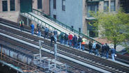 Chartered CTA train derails in South Loop