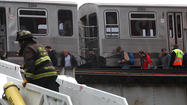 An elevated CTA train that had been chartered by railroad enthusiasts as a fund-raising effort for a railroad museum derailed today in the South Loop and resulted in 40 people having to walk to the nearest train station, officials said.