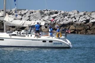 The vessel, called the Aegean, was participating in a race from Newport to Ensenada, Mexico, when it was reported missing Saturday.